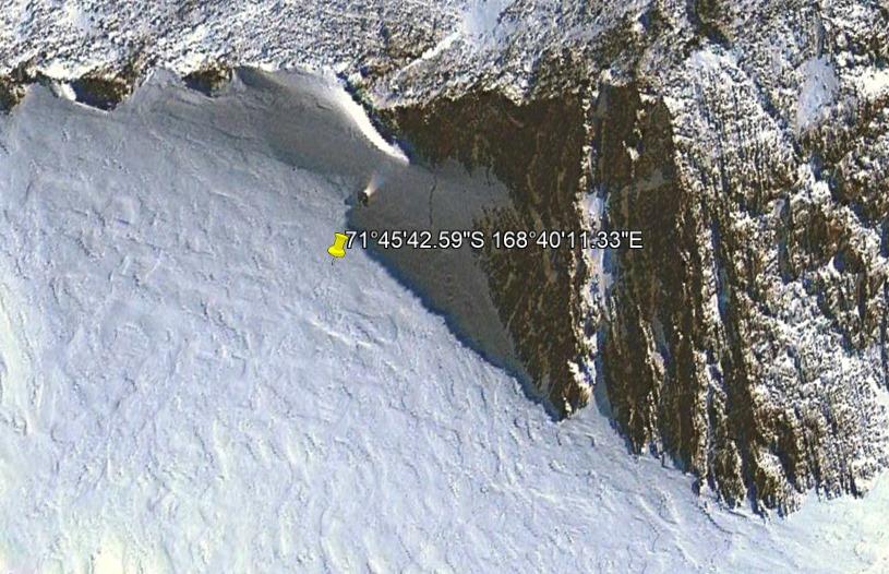 Загадочный объект с лучом света найден на картах Антарктиды