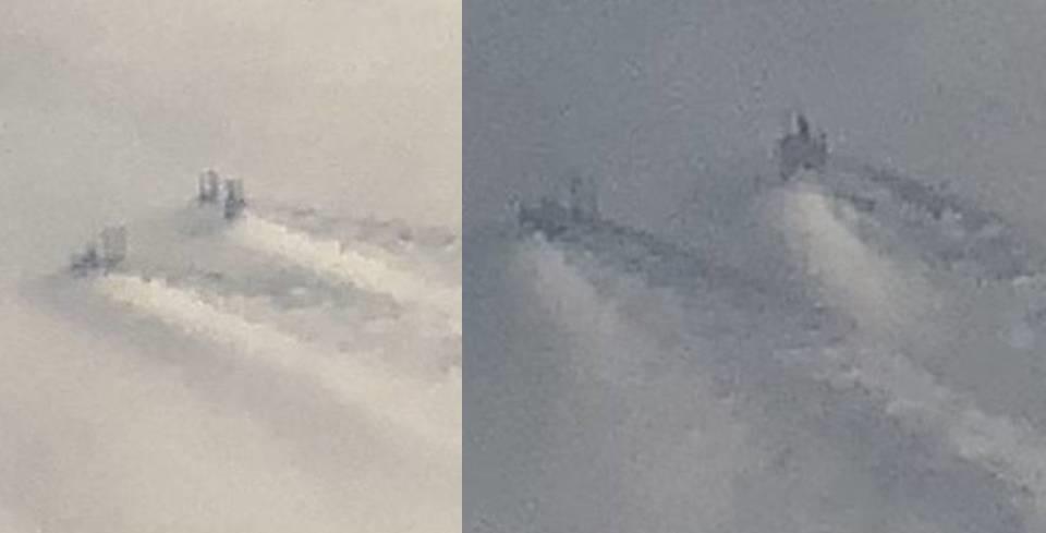 Странные стуктуры в облаках на высоте 3 километров