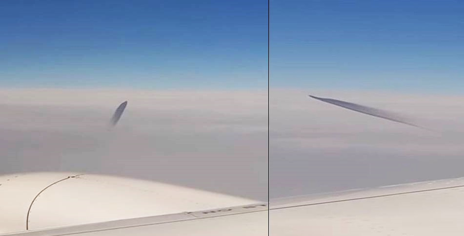 Загадочный летающий объект с темным шлейфом заснят над Турцией