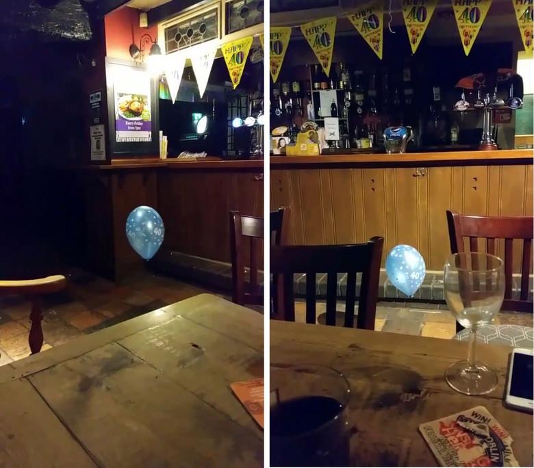 В пабе Уэльса призрак ребенка играл с воздушным шариком (2 фото + видео)