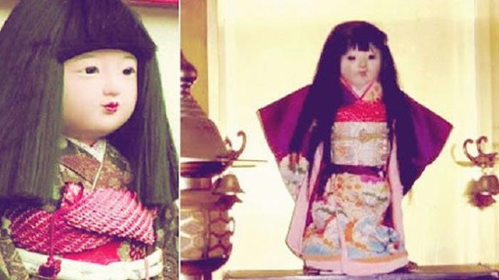История японской куклы Окику, у которой реально растут волосы (2 фото)
