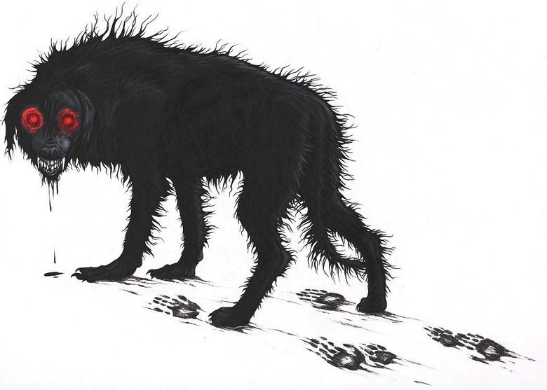 Зловещие черные собаки Великобритании