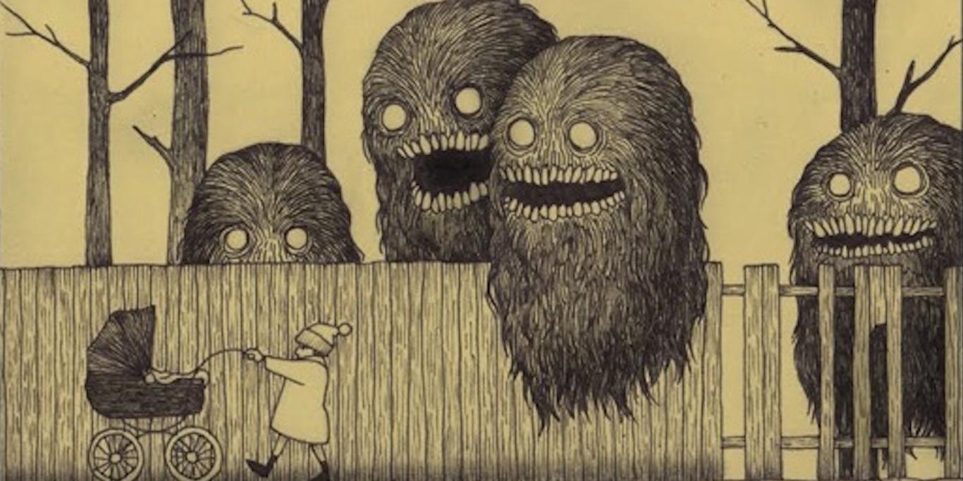 Черный слизистый шар с глазами и другие совершенно сюрреалистичные существа