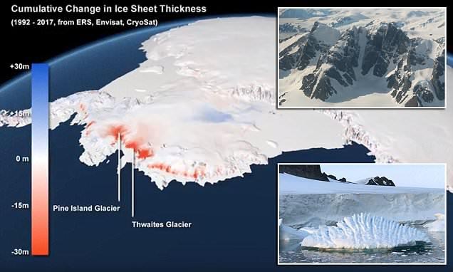 Льды Антарктиды тают с катастрофической скоростью, не имеющей аналогов в истории