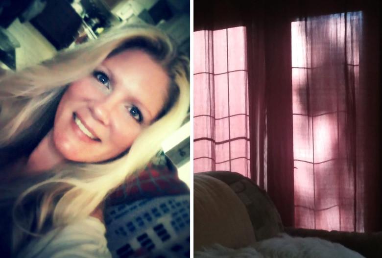 Женщина засняла в окне призрачный силуэт своей умершей собаки (4 фото)