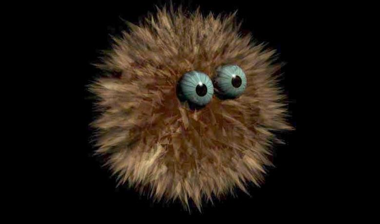 Черный слизистый шар с глазами и другие совершенно сюрреалистичные существа (4 фото)
