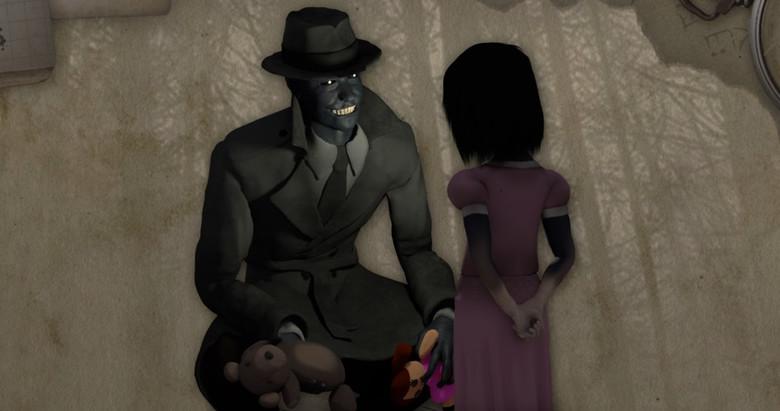 Проснувшись ночью, девочка увидела в комнате Человека в шляпе и черном пальто (2 фото)