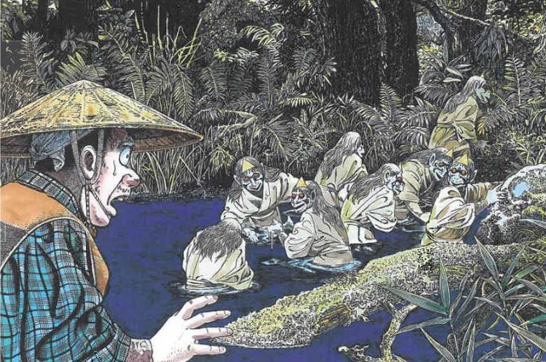 Хидаругами - опасные голодные японские призраки (5 фото)