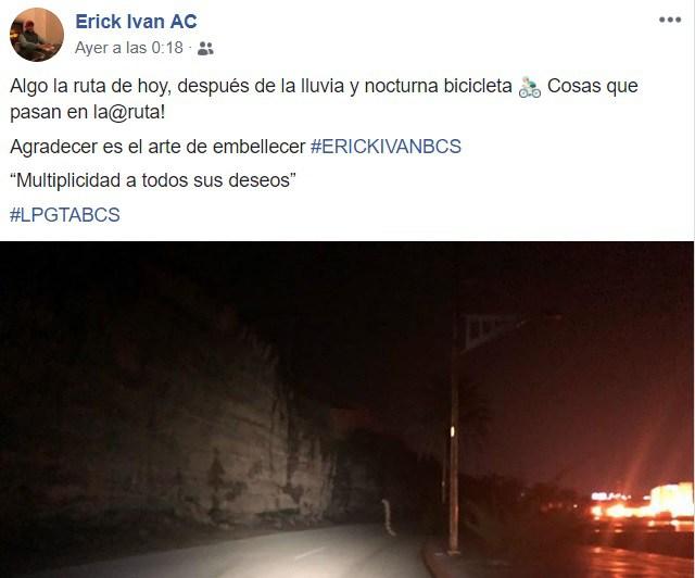 Мексиканский велосипедист заснял переходящего дорогу огромного червя