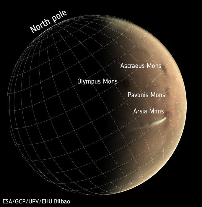 Вот уже второй месяц над Марсом висит странное облако, удивляющее ученых