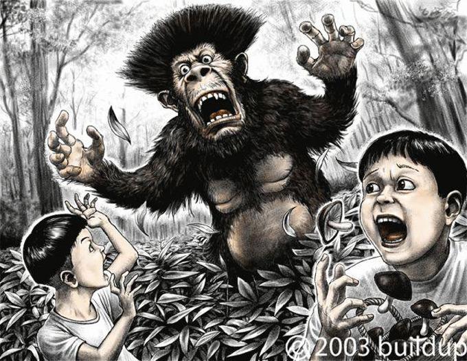 Загадка наблюдения в Японии в 1970-х годах крупной и вонючей прямоходящей обезьяны