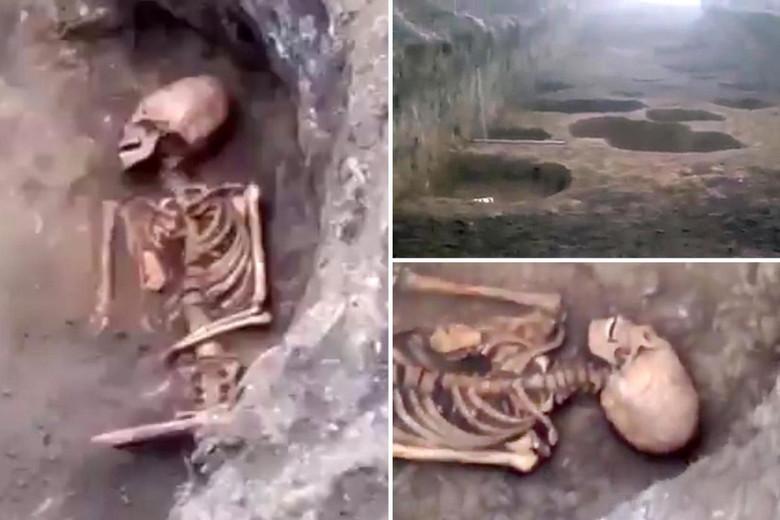 В Ингушетии откопали скелет женщины с сильно вытянутым черепом