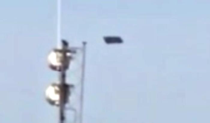 Плоский черный прямоугольный НЛО пролетел над Джорджией