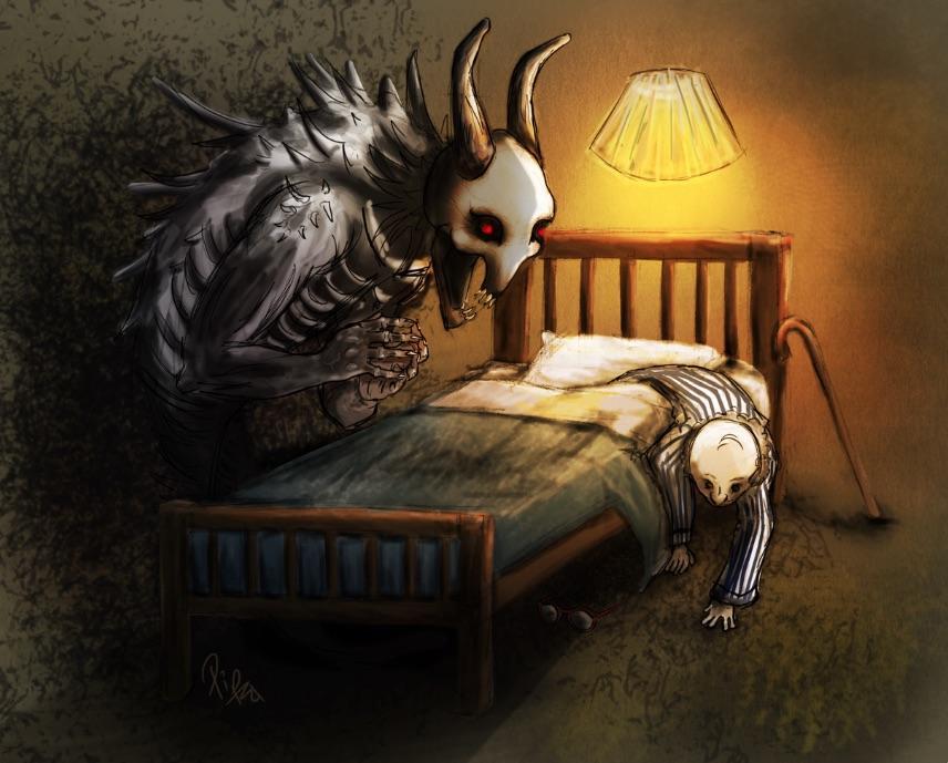 Реальные встречи с монстрами под кроватью