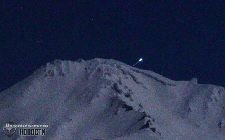 На горе Шаста сфотографировали взлетающий НЛО