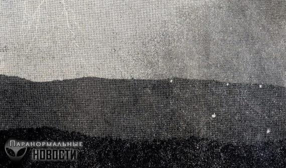 Призрачные огни горы Брауна засняли на видео