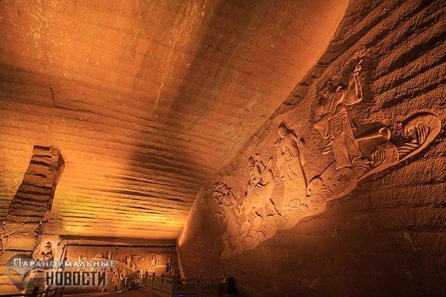 Загадка древних пещер Лунъю с высокотехнологичной обработкой стен
