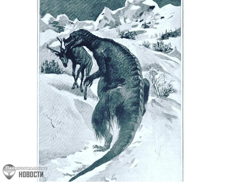 Странный случай наблюдения живого динозавра на... Крайнем Севере