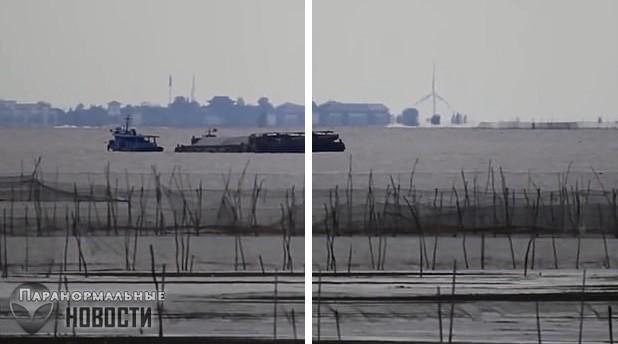 Хрономираж? На озере в Китае засняли странный «город-призрак»
