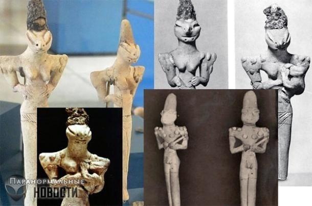 Археологическая загадка: Кого изображают фигурки Людей-ящериц из Ирака?