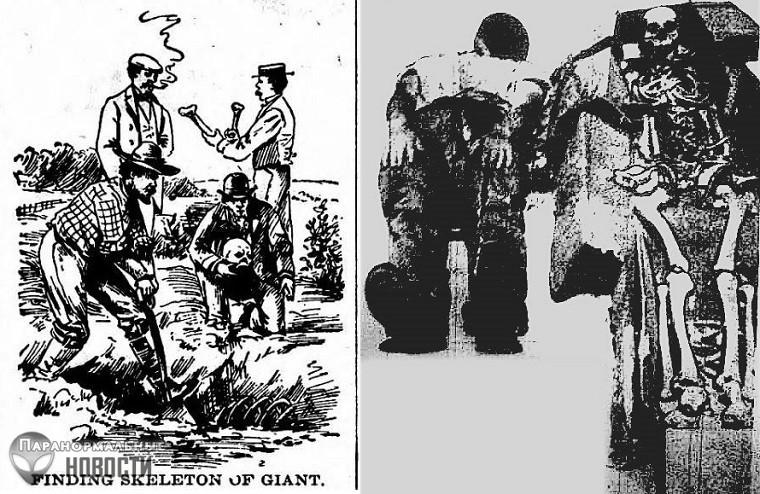 Выдумка или случайно просочившаяся секретная информация: Статьи о находках гигантских скелетов из американских газет