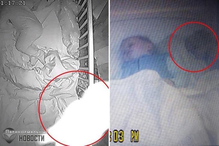 Moeders over de hele wereld beweren dat ze abnormale entiteiten naast hun kinderen op babyfoon te zien