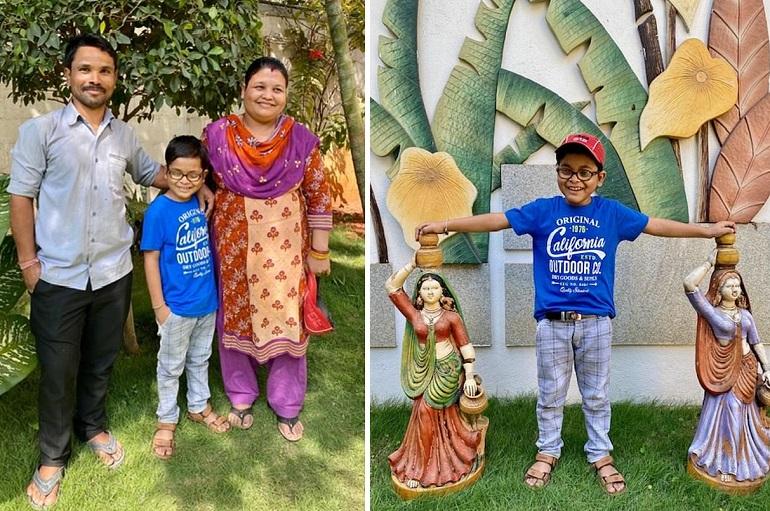 Медицинское чудо в Индии: Мальчика, чьи глаза из-за рака вылезли из орбит, вылечили и теперь он снова может видеть