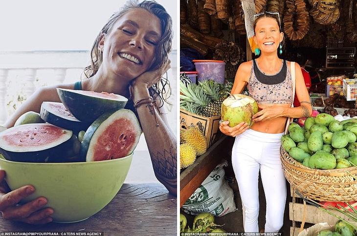 Женщина целый год не пила воды, потребляя лишь влагу из фруктов и овощей