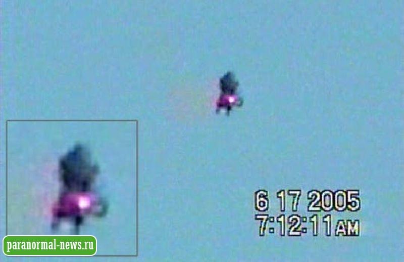 В США за месяц трижды засняли на видео летающих гуманоидов