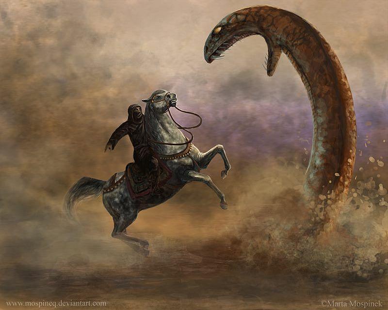 Смерть в песке: Гигантские змеи из легенд народов Сахары