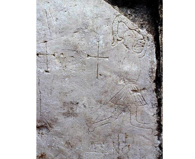 В Ярославской области обнаружен средневековый рисунок со странным существом