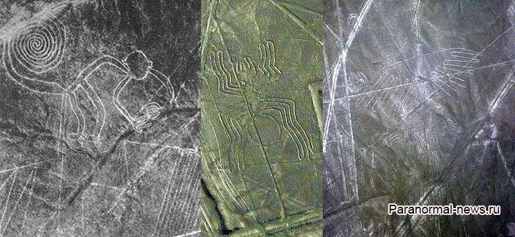 В Перу в районе Линий Наска найдено 2000-летнее изображение кошки