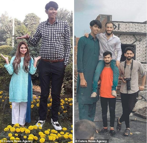 Пакистанский гигант: 21-летний юноша вырос до 230 см