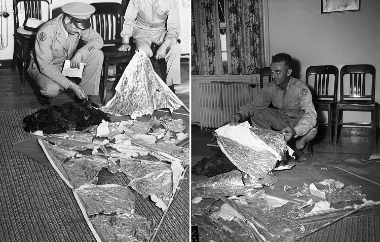 «Сделано не руками человека»: Впервые опубликованы записи офицера, изучавшего странные обломки из Розуэлла