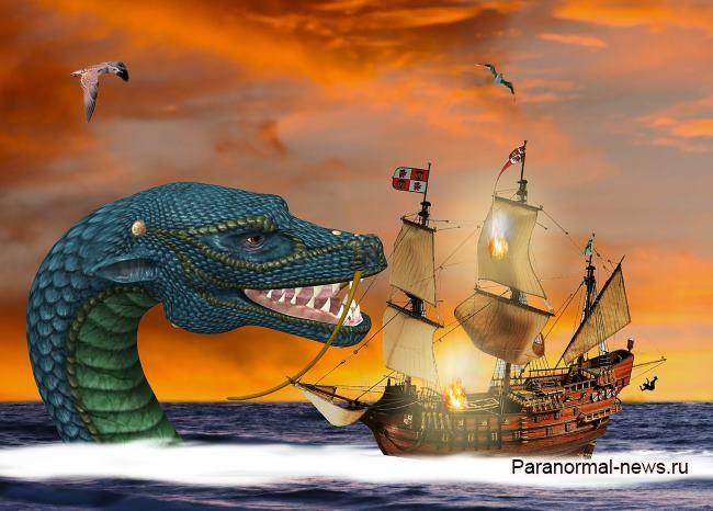 Как норвежский капитан встретил в море огромного «дракона» и застрелил его из ружья