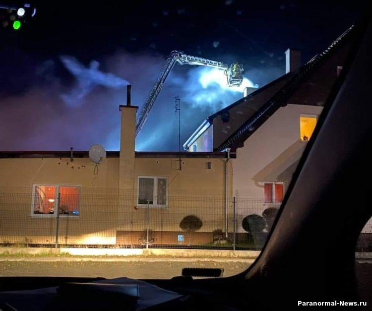 В Польше над домом, который тушили пожарные, засняли Ангела