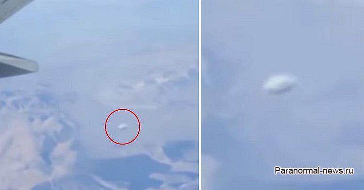 Скоростной диск-НЛО засняли с борта самолета, вылетевшего из Чикаго (+ видео)