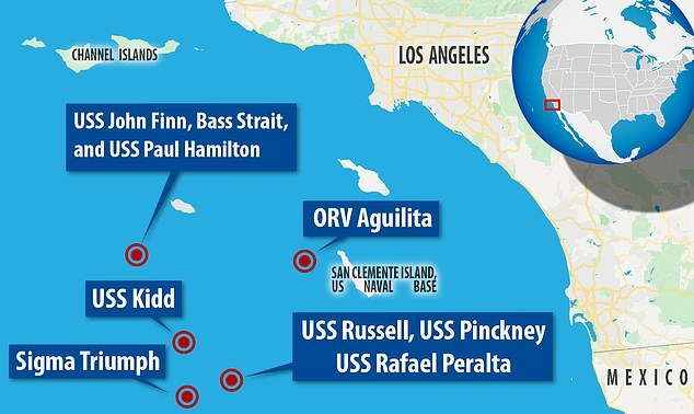 Таинственные скоростные НЛО овальной формы несколько дней пугали экипажи военных кораблей США