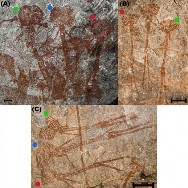 Изображения загадочных большеголовых гуманоидов найдены на скале в Танзании