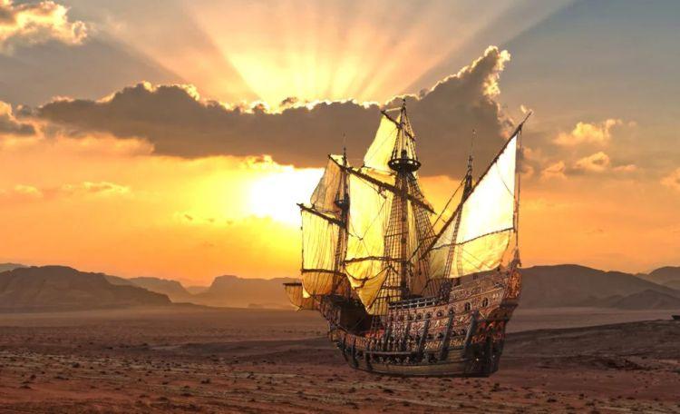 Упали с неба? Загадка морских кораблей, найденных в пустыне