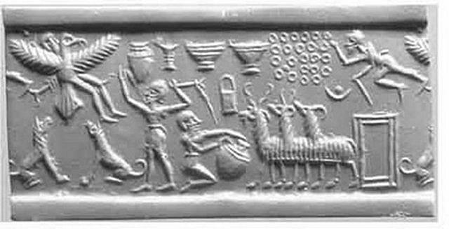 Шумерская история о царе Этане, который путешествовал на небеса к Богам