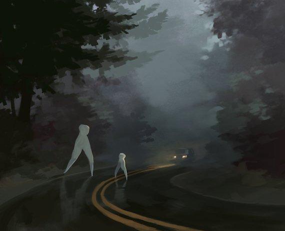 «Ходок из Кармела» - Белый монстр с очень длинными ногами