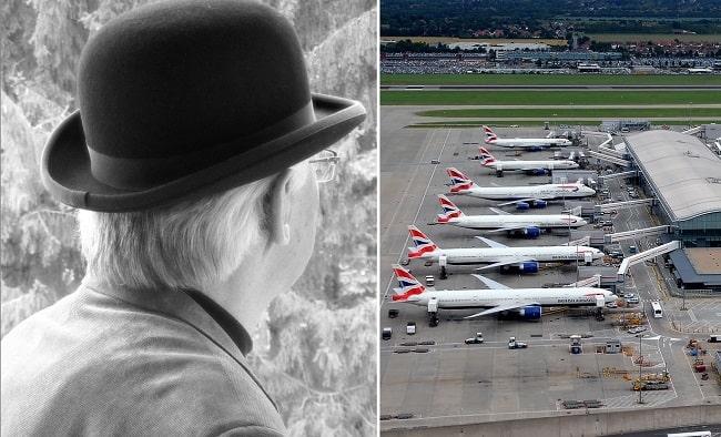 Человек в шляпе, погибший при крушении самолета, часто наблюдаемый призрак аэропорта Хитроу
