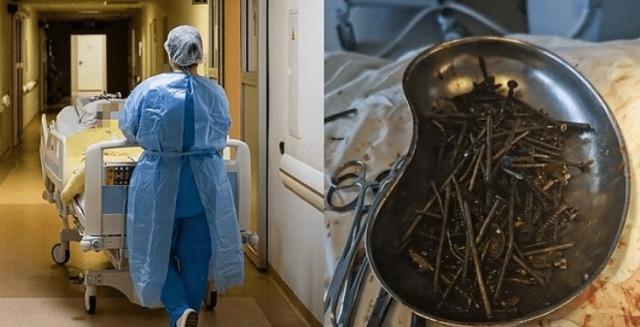 Врачи обнаружили в животе жителя Литвы 1 кг гвоздей и шурупов