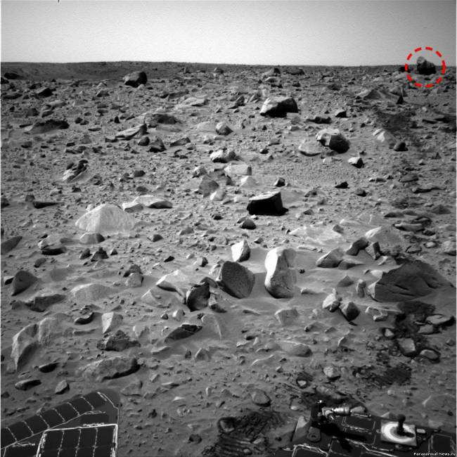 На Марсе найден камень в виде гориллы или это живое существо?