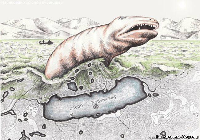 В озере Лабынкыр нашли челюсти и скелет неизвестного животного