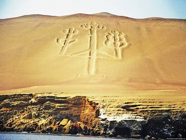 """Загадка """"Подсвечника"""" пустыни Наска"""