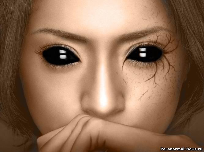 фото девушки с черными глазами
