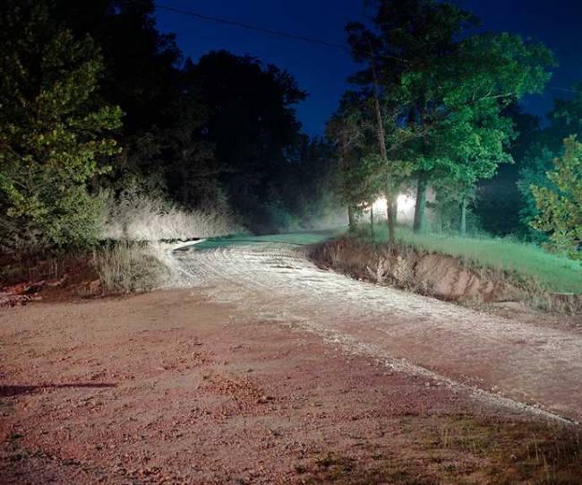 В штате Миссури засняли таинственный свет в лесу