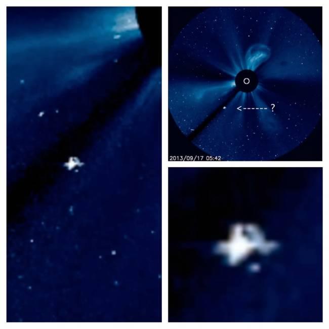 Космический корабль на фото Солнца от НАСА? (+Видео)